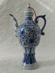 china porcelain, jug, bottle blue and with, Six-character mark Guangxu