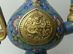 dragon handle, china, cloisonne, wine jar, weinkanne, anti